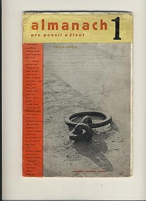 ALMANACH PRO POESII A ZIVOT 1 1920-1930: Stanislav Odárko, ed