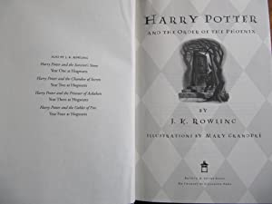 HARRY POTTER AND THE ORDER OF THE PHOENIX: [113]**{TRUE FIRST EDITION ~ FINE ~ UNREAD or GENTLY ...