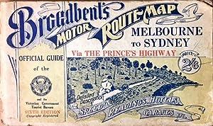 Broadbent''s Motor Route Map, Melbourne to Sydney: Broadbent, Geo. R.
