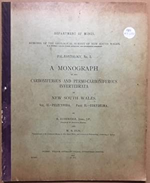 Department of Mines Memoirs of the Geological Survey of New South Wales. Palaeontology No. 5. A ...