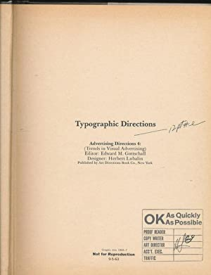 Typographic Directions: Advertising Directions 4: (Trends in Visual Advertising): Gottschall, ...
