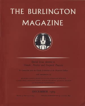 The Burlington Magazine (Volume CXI, Number 801, December 1969): Nicolson, Benedict (editor)