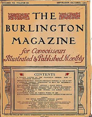 The Burlington Magazine (Vol III, No. VI, September-October 1903): Berenson, Bernhard; Nevill, ...