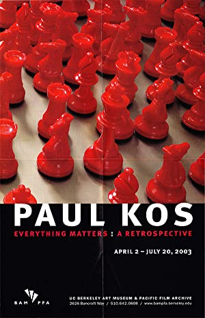 Paul Kos: Everything Matters: A Retrospective (Poster)
