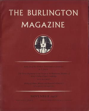 The Burlington Magazine (Volume C, No. 668, November 1958): Nicolson, Benedict (editor)
