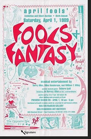 """Aline Kominsky-Crumb 1989 Poster for """"Fools Fantasy"""" at the San Francisco Art Institute: ..."""