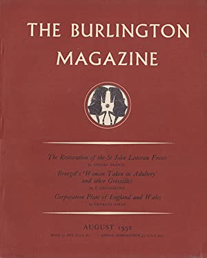 The Burlington Magazine (August 1952, Vol XCIV, No. 593): Nicolson, Benedict (editor)