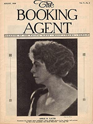 The Booking Agent featuring Adele D. Lauth and California, Pacific Coast Music (Volume V, No. 2, ...
