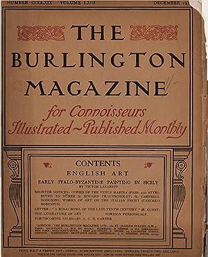 The Burlington Magazine (Volume LXIII, Number CCCLXIX, December 1933): Read, Herbert