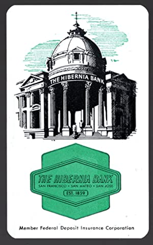 Hibernia Bank Plastic Pocket Calendar with Ruler (1959)