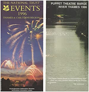 London 1996 Ephemera: London Gardens, National Trust Events, and the Puppet Theatre Barge River T...