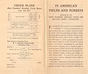 Order Blank: Ohio Teachers' Reading Circle Books for 1909-1910: In American Fields and Forests