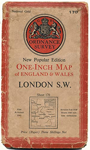 Ordnance Survey National Grid: One-Inch Map of England & Wales: London SW (170)