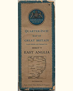 Quarter-Inch Map of Great Britain Sheet 9 East Anglia (Fourth Edition with National Grid)