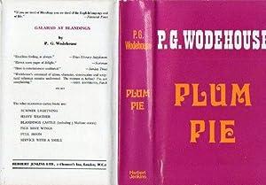 Plum Pie: P G Wodehouse
