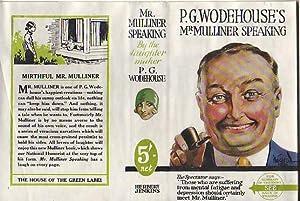Mr Mulliner Speaking: P g Wodehouse