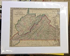 County Map of Virginia and West Virginia: Mitchell, S. Agustus