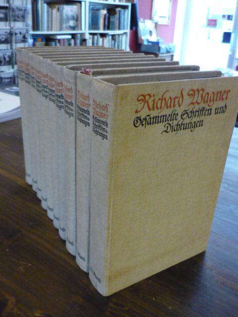 Gesammelte Schriften und Dichtungen. 10. Bde. (= alles).: Wagner, Richard.