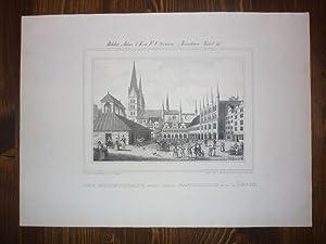 Der Marktblatz (!) mit dem Rathhause zu Lübeck.: Lübeck.-
