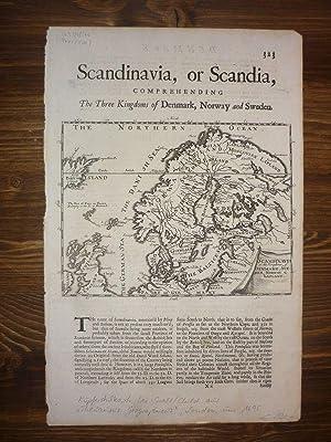 Scandinavia, or the Kingdoms of Denmark, Sueden, Norway & Lapland.: Skandinavien.-