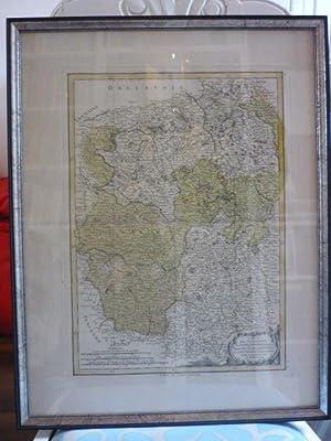 Carte des Gouvernements du Berri, du Nivernois, de la Marche, du Bourbonnois, du Limosin et de L&#...