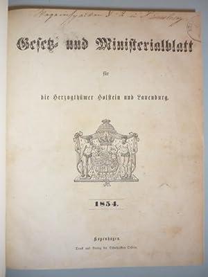 Gesetz- und Ministerialblatt für die Herzogthümer Holstein und Lauenburg. 1854-1856. 3 in...
