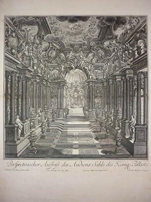 Perspectivischer Auffriss des Audienz Sahls des Königl. Pallasts.: Decker, Paul.