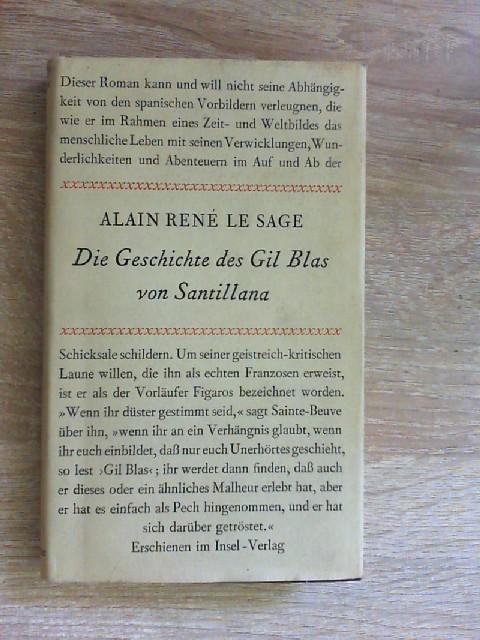 Die Geschichte des Gil Blas von Santillana.: Le, Sage Alain