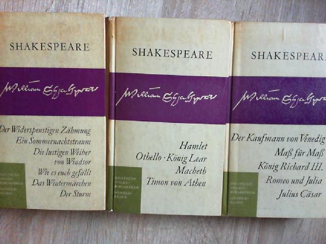 3 Bände William Shakespeare **Bd 1:Der widerspenstigen: William, Shakespeare: