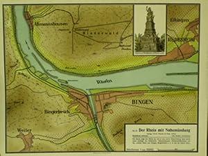 Der Rhein mit Nahemündung. 1 : 15000.