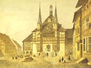 Marktplatz mit Rathaus.(Hotel de Ville de Wernigerode).