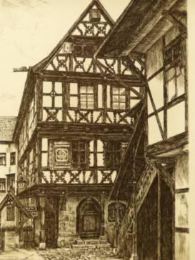 Büchnersches Hinterhaus.: Henkel, W.,