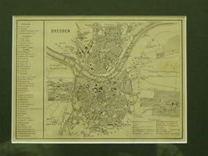 Dresden. Stadtplan.