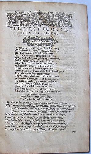Homer Prince of Poets: Translated According to: Homer (George Chapman