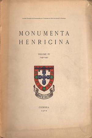 Monumenta henricina Vol. IV (1431-1434): AA.VV.