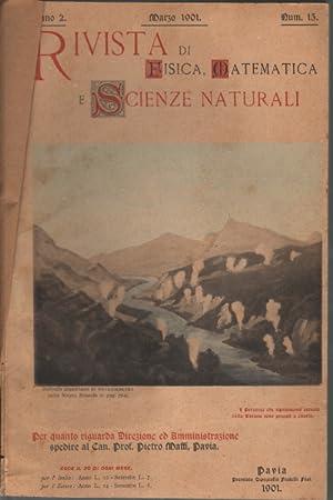 Rivista di fisica, matematica e scienze naturali Marzo, maggio, luglio-dicembre 1900 = anno 2, nn. ...