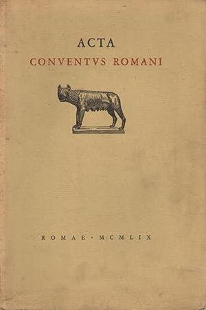 Acta Conventus Romani Romae MCMLIX: AA.VV.