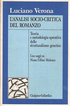 L'analisi socio-critica del romanzo Teoria e metodologia: Luciano Verona