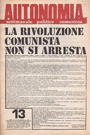 Αποτέλεσμα εικόνας για autonomia, settimanale politico comunista, anni '70