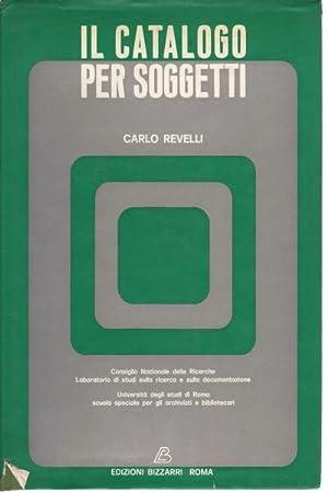 Il catalogo per soggetti: Carlo Revelli