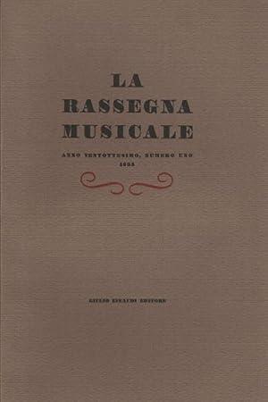 La Rassegna Musicale, Anno ventottesimo, 1958 (4 volumi): AA.VV.