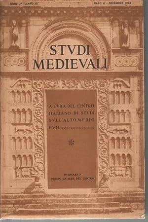Studi Medievali - anno IX: AA.VV.