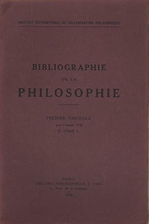 Bibliographie de la philosophie, II. (1938). Volumi 2: AA.VV.