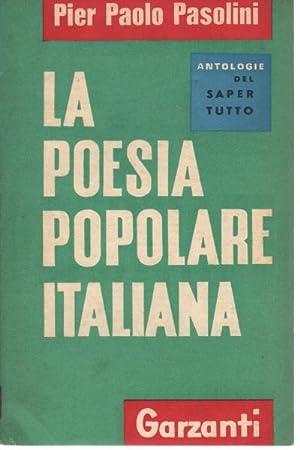 La poesia popolare italiana: Pier Paolo Pasolini