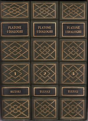 I Dialoghi (3 volumi) L'apologia e le epistole: Platone