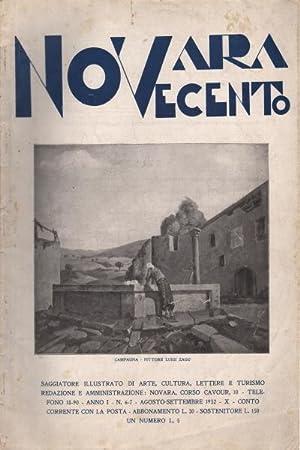 Novara Novecento. Anno I, n. 6-7 e n. 9-10 (2 voll.) Saggiatore illustrato d'arte, cultura, ...