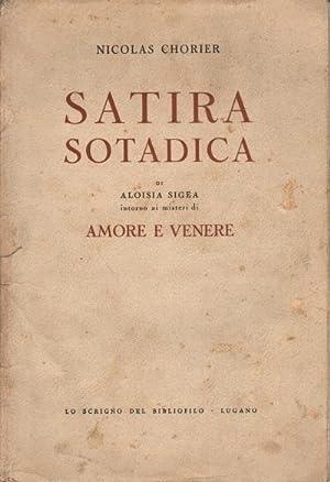 Satira Sotadica Di Aloisia Sigea intorno ai misteri di Amore e Venere: Nicolas Chorier