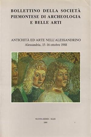 Bollettino della società piemontese di Archeologia e Belle Arti. Nuova Serie - XLIII, 1989 ...