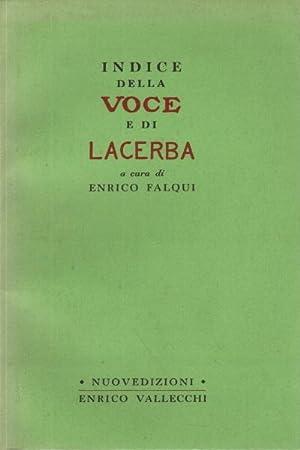 Indice della voce e di Lacerba: Enrico Falqui