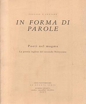 In forma di parole Poeti nel magma: Massimiliano Morini